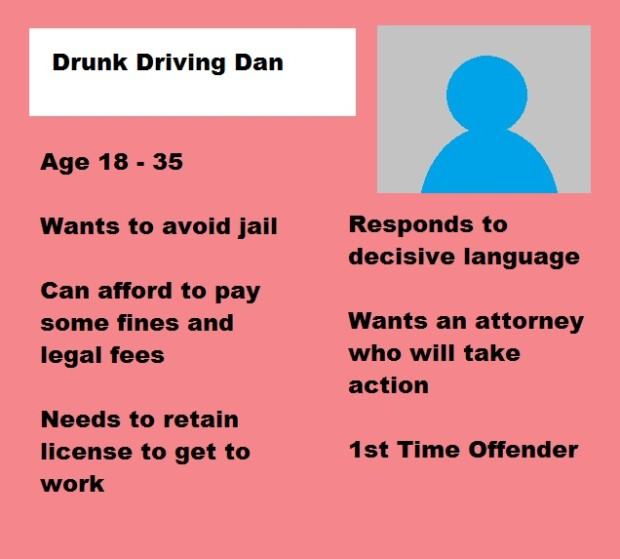 Sample Persona of a Drunk Driving Client