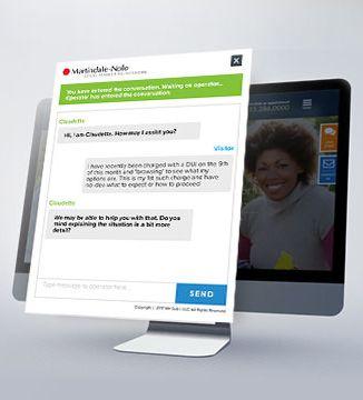 Ngage Live Chat on comp